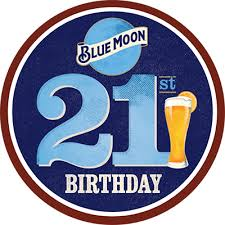 blue moon beer 21 birthday celebration